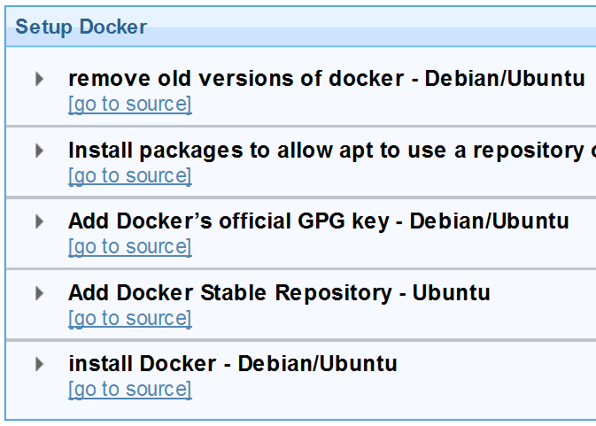 Baseline: Docker Setup
