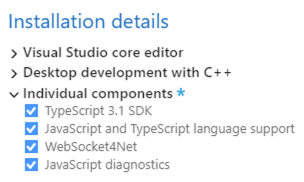 JavaScript Components for Visual Studio